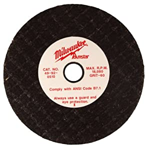Milwaukee 49-92-0510 3 by 1/2-Inch 60-Grit Grinding Wheel at Sears.com