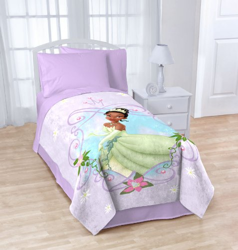 "Disney Princess And The Frog Tiana Blanket Twin / Full Micro Raschel Throw - 62"" X 90"""