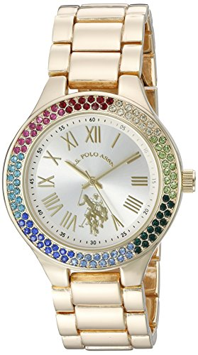 U.S. Polo Assn. Women's Quartz Metal and Alloy Casual Watch, Color:Gold-Toned (Model: USC40128)