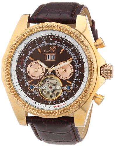 Ingraham - IG PESC.1.200308 - Montre Homme - Automatique - Analogique - Bracelet Cuir Marron