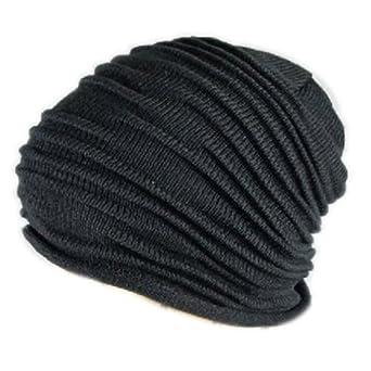 Unisex Mens Womens Folds Slouchy Beanie Winter Fall Wool Hat Knit Hat Skull  Cap 6cadf64aeb8c