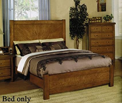 King Size Bed in Ask Oak Finish