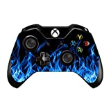 Gebaisi Vinyl Skin Sticker Protector for Microsoft Xbox One Controller Blue Fire