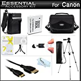 Essential Accessories Kit For Canon PowerShot SX500 IS, SX510 HS, SX510HS, SX520 HS, SX530 HS Digital Camera Includes Replacement NB-6L Battery + A/Dc Charger + Mini HDMI Cable + Case + Tripod + More