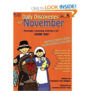 Daily Discoveries for November: Thematic Learning Activities for Every Day by Elizabeth Cole Midgley