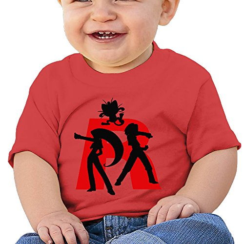 [Jirushi Infants &Toddlers Baby's Poke Team Rocket Red T Shirts For 6-24 Months] (Red Baron Baby Costume)