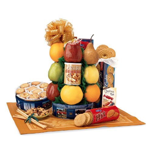 Fruit & Cookie Deluxe Gift Tower