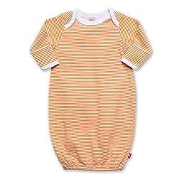 Zutano Candy Stripe Gown, Orange, 3 Months