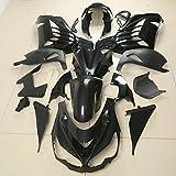 TCMOTO 黒地 無塗装 外装セット Kawasaki Ninja ZZR1400 ZX-14R ZX14R 12-15 フルカウル キット