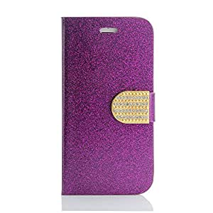 "Gearonic GEARONIC TM Luxury Diamond Leather Credit Card Holder Hard Filp Wallet Pouch Case Cover for Apple 4.7"" iPhone 6 - Purple - Carrying Case - Non-Retail Packaging - Purple"