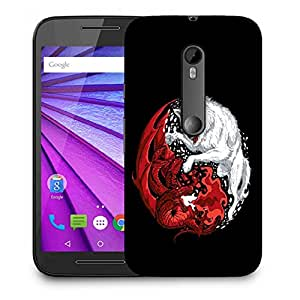 Snoogg Wolf Vs Dragon Designer Protective Back Case Cover For MOTOROLA G3