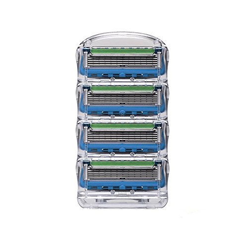 mircorange-manual-fusion-razor-shaver-blades-pack-of-4-blades-compatible-gillette-razor-flexible-bal