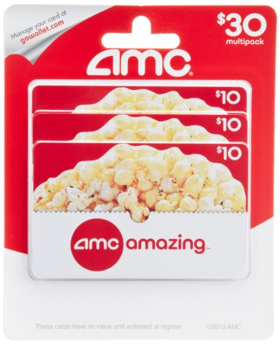 AMC Theatre  Gift Cards, Multipack of 3 - $10 (Amc Theaters compare prices)