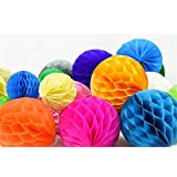 "SUNBEAUTY 2""(5cm) Pack Of 40 Small Decorative Tissue Paper Honeycomb Balls Assorted Colors For Weddi"