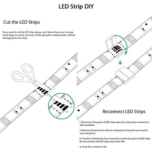 Led Strip Lights Rgb 16 4ft 5m Waterproof Color Changing