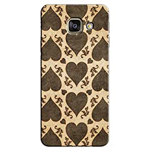 BROWN HEARTS BACK COVER FOR SAMSUNG A9