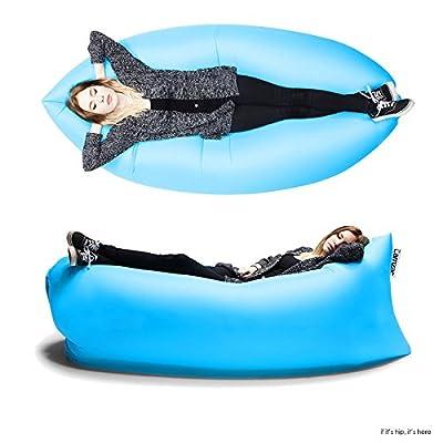 HipBag Tragbare aufblasbare Lounge Lamzec Hangout Festival Lounge Luftkissen Nylon Schlafsack Chillsack
