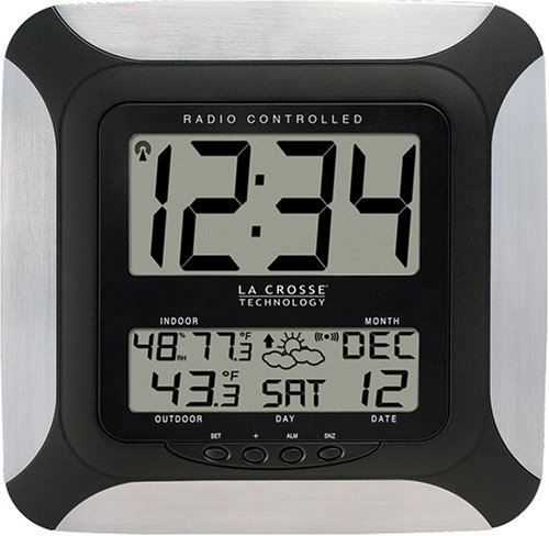 Buy La Crosse Technology WS-8256U-AL Radio Controlled Digital Wall Clock with Weather Forecast
