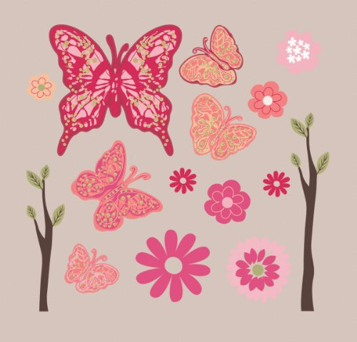 Summer Infant Juliette Butterfly Wall Decals