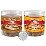 Chocholik Dry Fruits - Almonds Jamaican Jerk & Lemon Pepper With 5gm Pure Silver Coin - Diwali Gifts - 2 Combo...