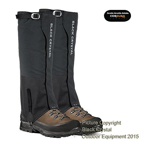 Ghette Black Crystal trekking escursioni sciare neve impermeabili e traspiranti per uomo (M)