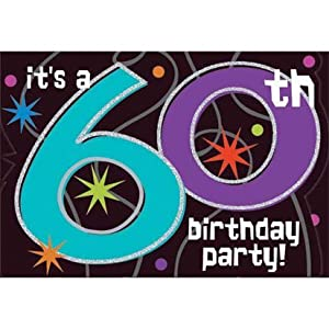 The Party Continues 60th Birthday Invitations 8ct by Amscan, Inc.