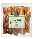Best Pet 10-Pack Braided Bully Chew Sticks for Pets, 6-Inch