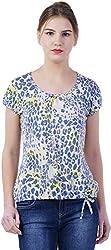 TSAVO Women's Regular Fit Top (1217_WHITE, White, X-Large)