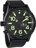 Nixon 51-30 Tide Black Dial Black PVD Mens Watch A0581256