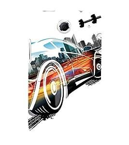 EPICCASE Fast Car Mobile Back Case Cover For Lenovo S880 (Designer Case)