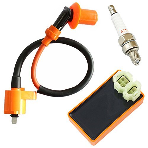 Performance Ignition Coil + Spark Plug A7TC + AC CDI for GY6 50cc 80cc 110cc 125cc 150cc 4-stroke Engines Scooter Moped ATV Go Kart (Moped Parts compare prices)
