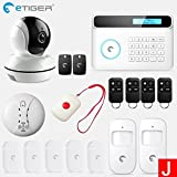 HITSAN etiger wireless gsm alarm system android ios app control home security alarm system with pir motion sensor ip camera SET J