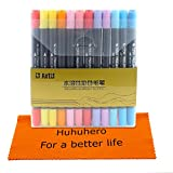 Huhuhero-Art-Soft-Brush-Pen-Markers-Supplies-for-Adult-Coloring-Books-Dual-Tip-Premium-Colored-Watercolor-Pens-for-Kid-Drawing-Sketch-Painting-24-PACK-No-Duplicates