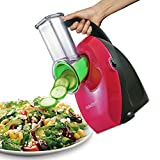KitchenPRO Electric Salad Slicer Shredder Food Processor with No-Mess Handle