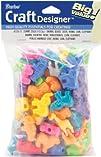 Darice Plastic Novelty Zoo Animal Shaped Beads 14-Pound