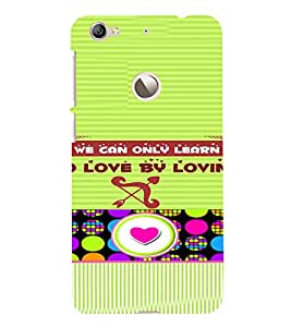 PrintVisa Love Quotes Design 3D Hard Polycarbonate Designer Back Case Cover for LeEco Le 1S