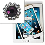 Lumii Ark Bling Pattern Home Button Sticker for Apple iPhone / iPad / iPod Touch / iPod - Purple Diamond