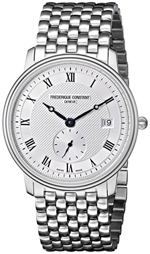 Frederique Constant Mens Slim Line Date FC-245M4S6B Stainless Steel Watch image