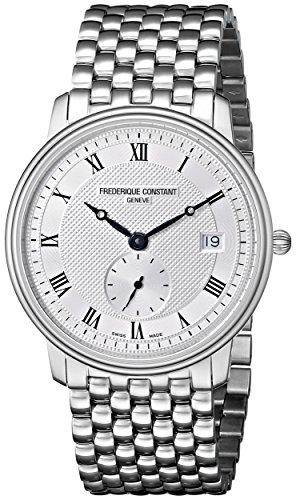 Frederique Constant FC-245M4S6B - Reloj de pulsera hombre, acero inoxidable, color plateado