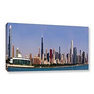 Amazon.com: ArtWall Cody York's Chicago Pano Gallery-Wrapped Canvas