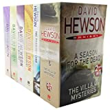 David Hewson David Hewson 6 Books 7 Titles Pack Set Collection RRP 42.94 Omnibus Mysteries (The Lizard's Bite, The Garden of Evil, Dante's Numbers, The seventh Sacrament, The Promised land, A Season for the Dead & The Villas of Mysteries)