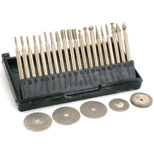 25 Diamond Burs & Cut Off Wheel Jewelers Lapidary Tools