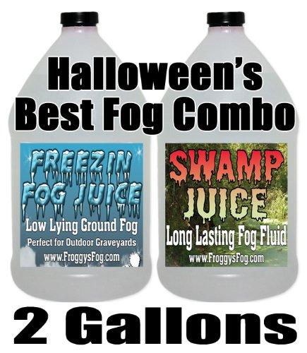 Froggys Swamp / Freeezin Fog Fluid Combo - 2 Gallons (Halloween Smoke Machine)