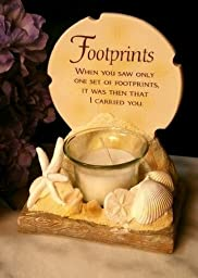 Footprints in the Sand Votive Candle Holder