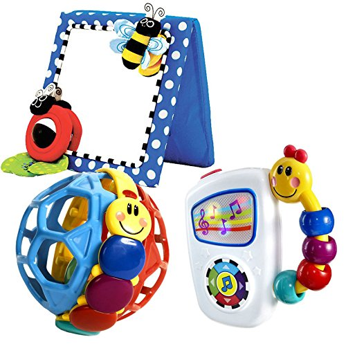 Babyhaven-Bundle-Baby-Floor-Mirror-with-Take-Along-Tunes-Bendy-Ball-Rattle