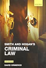 Smith and Hogan s Criminal Law by David Ormerod