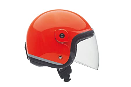 Tucano urbano 1100524 eL'fibreglass mET casque double usage, with or without visor, orange, fluorescent taille m