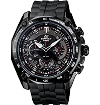Casio Edifice Chronograph Tachymeter Mens Watch Black Resin - Casio EF550PB-1A