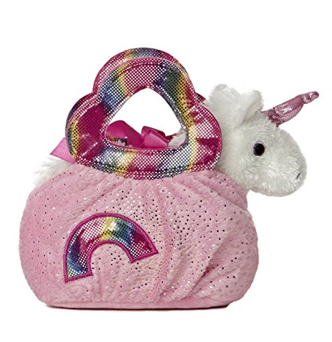 Aurora World Fancy Pal Pet Plush Carrier, Rainbow - 1