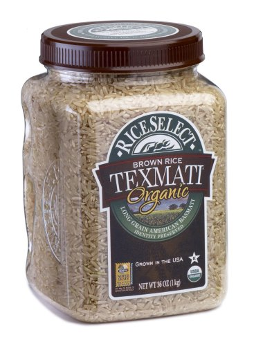 RiceSelect Organic Texmati Brown Rice, 36-Ounce Jars (Pack of 4)